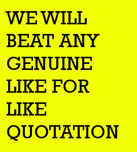 beat any quote
